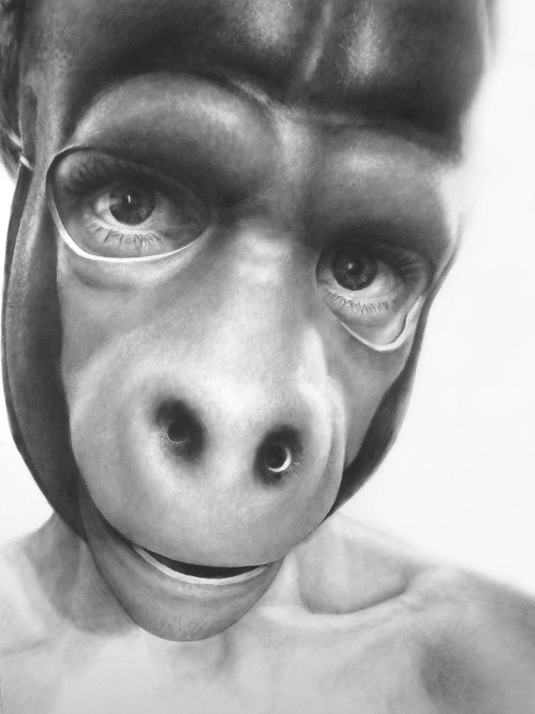 Self Portrait as Gorilla, Masked series