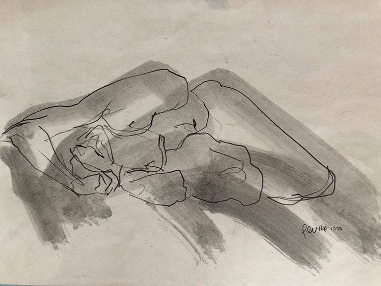 Levine_unframed reclining_#1594