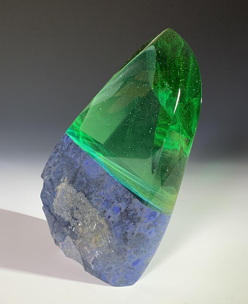 Lambert_heterochromia_2020_glass and dumortierite_ 8_x6_x2_web