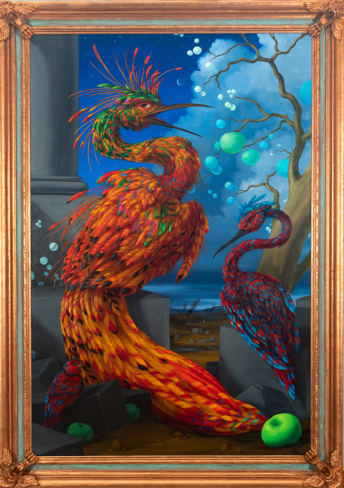 Laurie Hogin_Allegory of Survival (Firebird with Intoxicating Fruits and Scavenging Companion Species)_2021_web