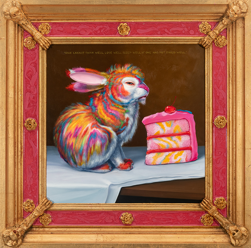 Laurie Hogin_Song of Plenty and Poison Laurie Hogin_(Still Life with Marble Cake Bunny and Marble Cake)_2021_web